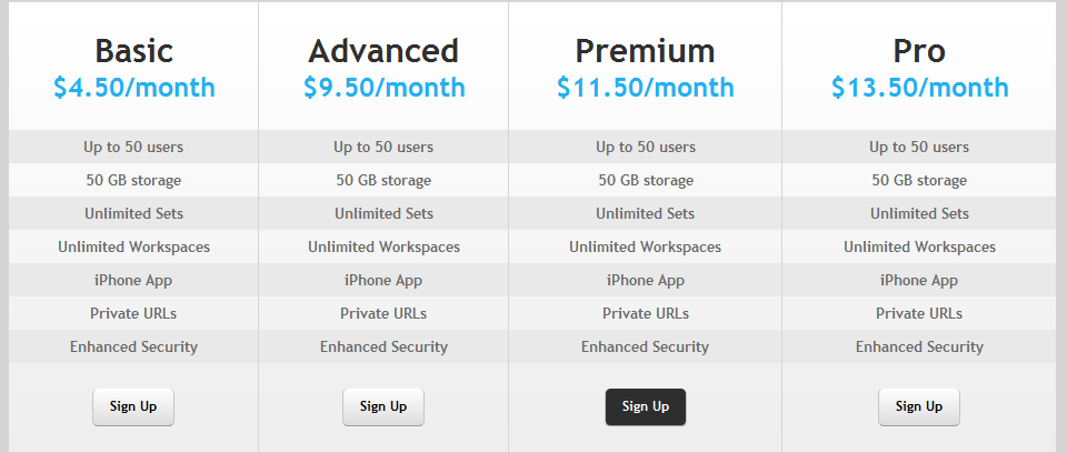 attractive free pricing tables using css3