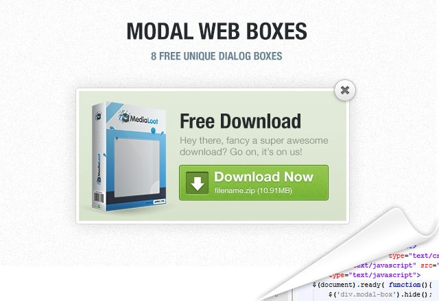 Free Jquery Model Boxes using CSS