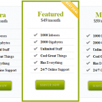 Pricing Table with CSS3