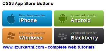 App Store Button with CSS3 - W3lessons Programming Blog
