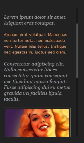 jQuery vertical scrollbar