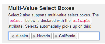 multiple value select boxes
