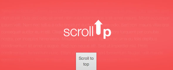 Scroll to Top Jquery Plugin