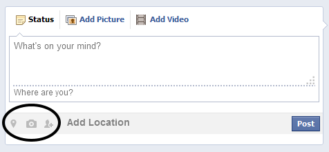 Facebook Style Share Location