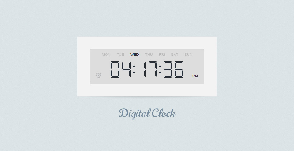 Digital Clock using jQuery & CSS3