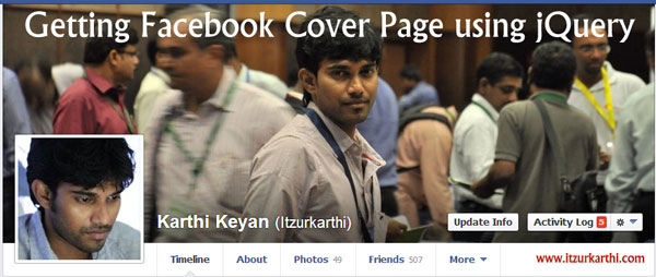 Getting Facebook Cover-Page using jQuery