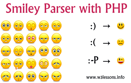 Smiley Parser with PHP