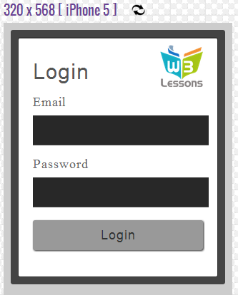 iPhone 5 Login Form
