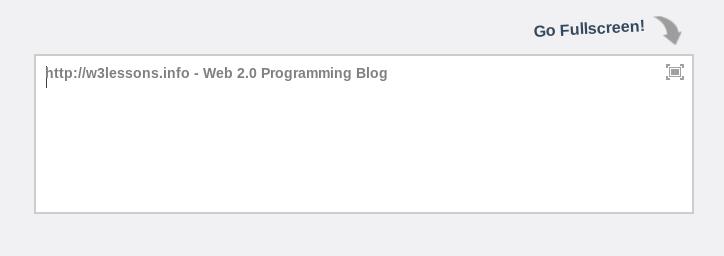 jQuery Fullscreen Editor