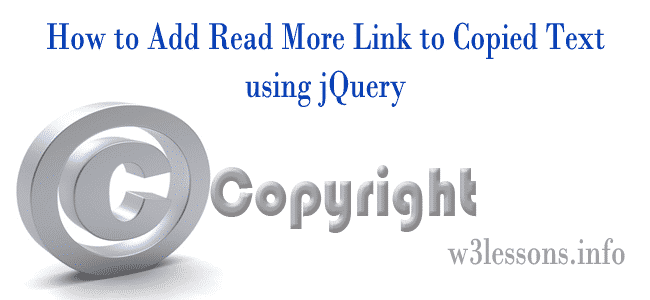 Adding Read More Link to Copied Text using jQuery