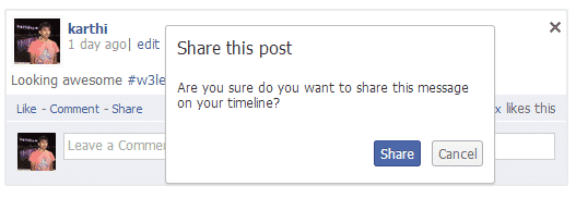 Sharing Posts on Your Wall
