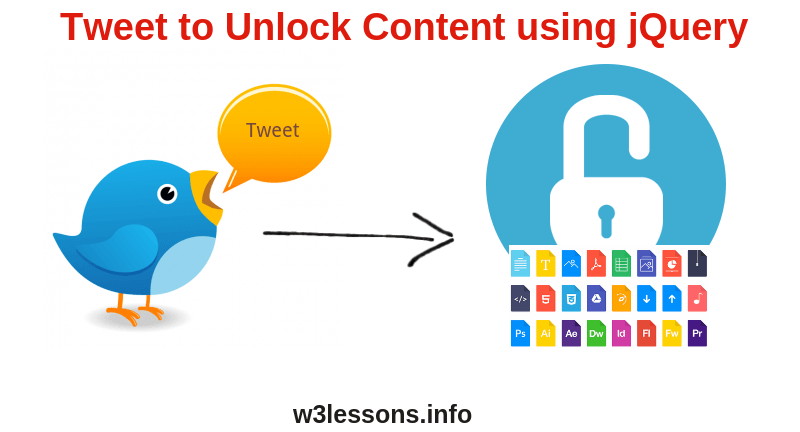 Tweet to Unlock Content using jQuery