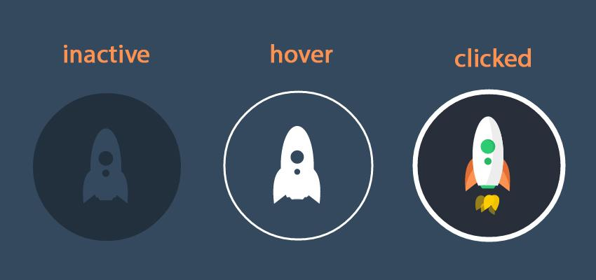 CSS Icon Round Buttons with Hover Effects by Wootimes | CodeCanyon