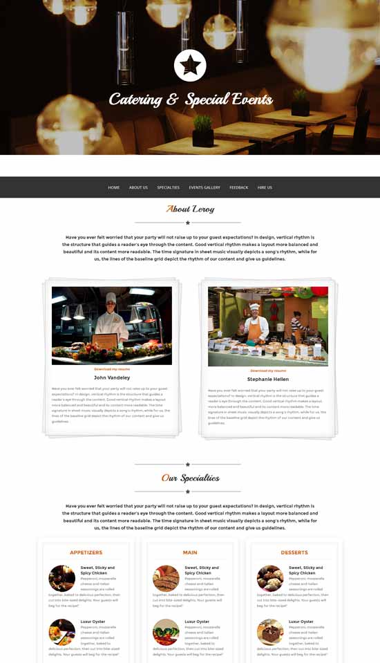 Leroy - Free Onepage Bootstrap Template