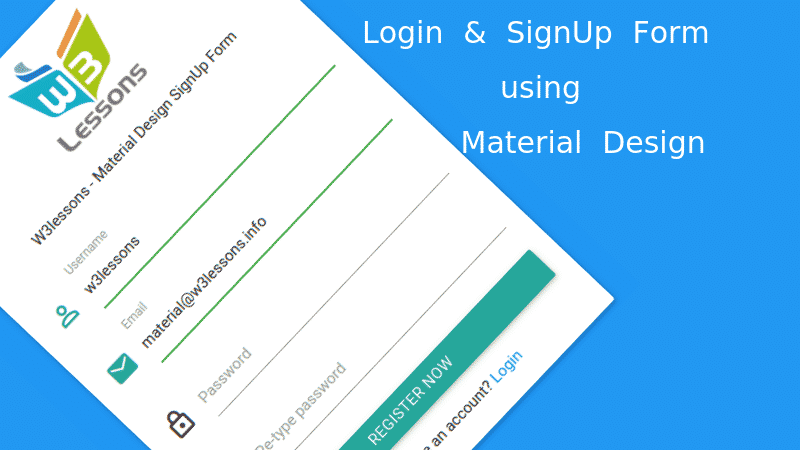 Material Design Login & SignUp Form