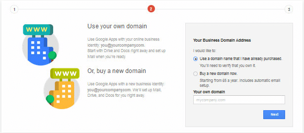 Domain Configuration Google Apps