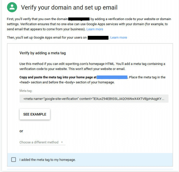 Domain Verification - Google Apps