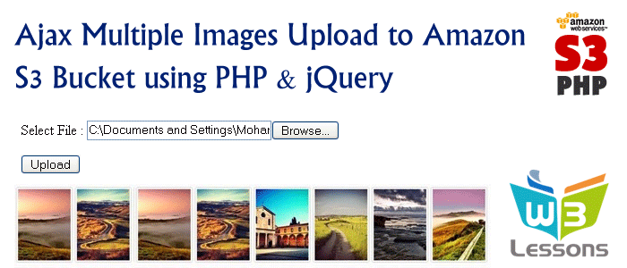 jQuery Multiple File Upload to Amazon S3 using PHP