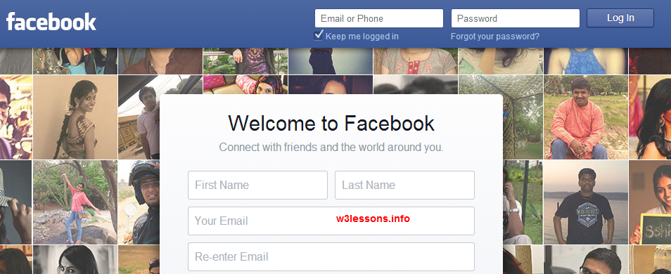 www facebook login com home page