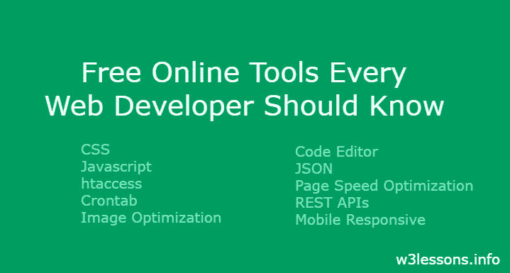 20+ Popular Online Web Developer Tools in 2019 - W3lessons